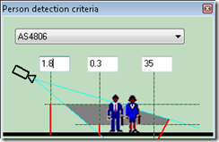 Video CAD settings for Detect quality CCTV