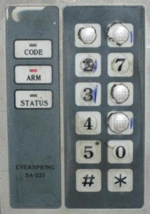 Weak security alarm code 1976 or 1967